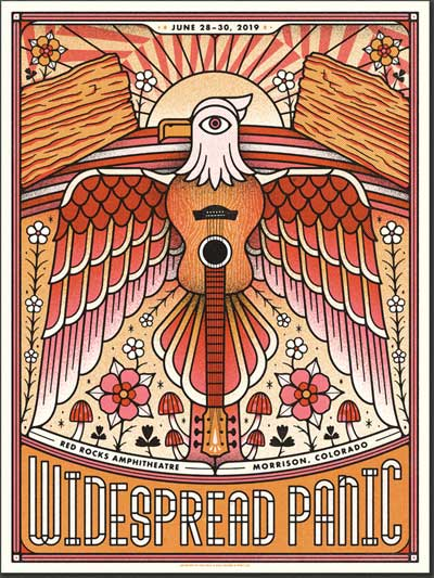 Red Rocks 2019 Poster by The Half and Half