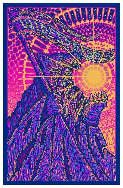 Red Rocks 2019 Poster by Brad Klausen