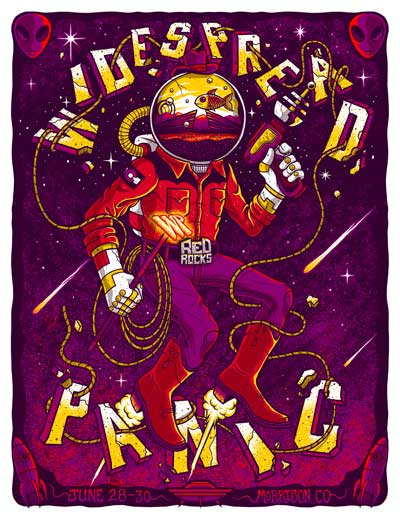 Red Rocks 2019 Poster by Jim Mazza