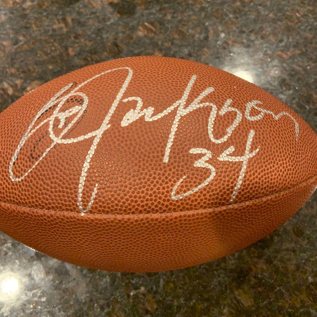 Bo Jackson Autographed Football