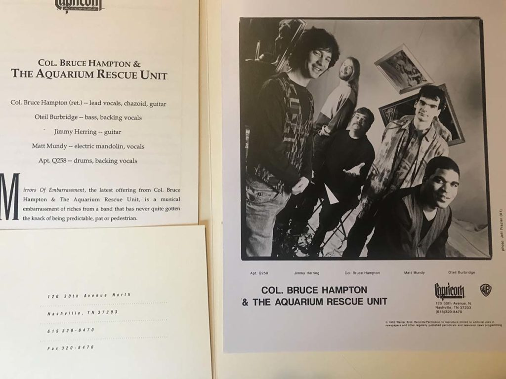 Col. Bruce Hampton & The Aquarium Rescue Unit Press Photo