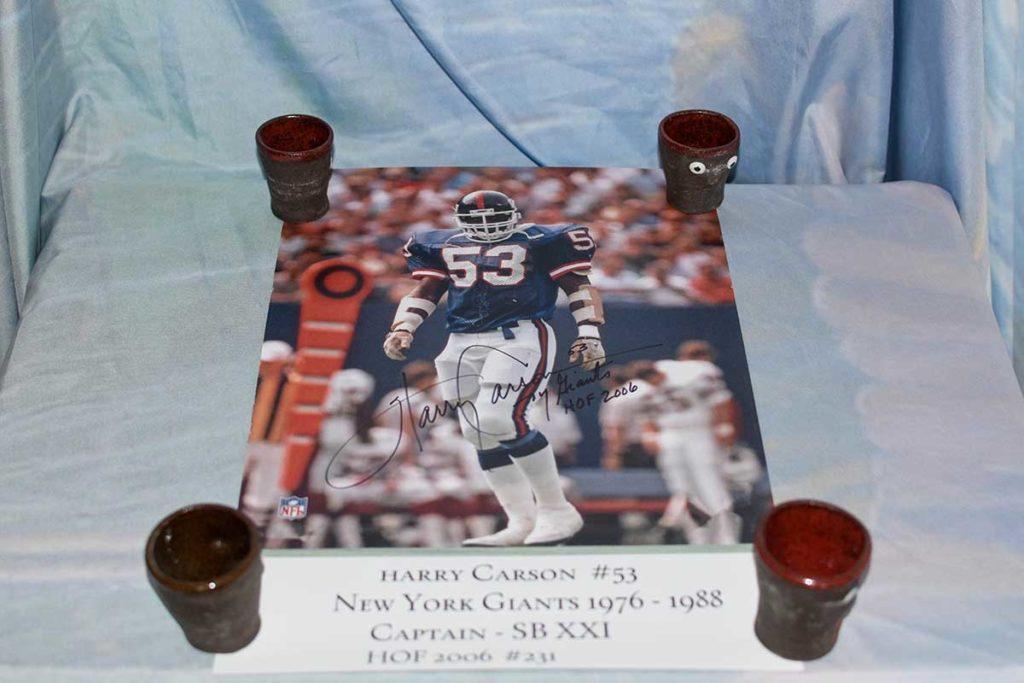 NY Giants Harry Carson Signed Poster