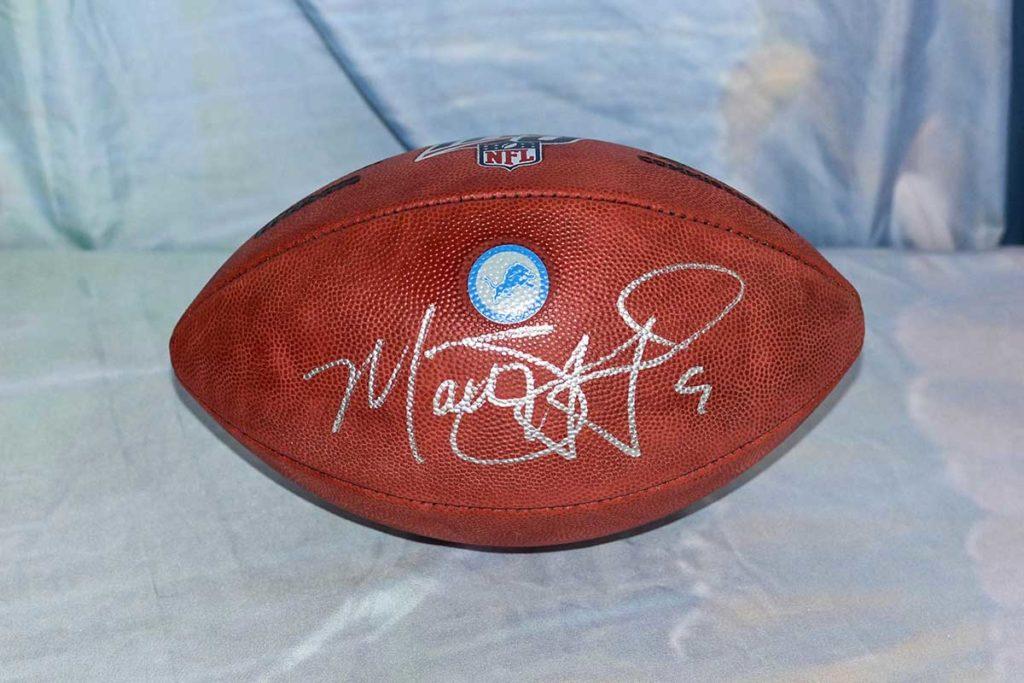 Detroit Lions #9 Matthew Stafford signed football