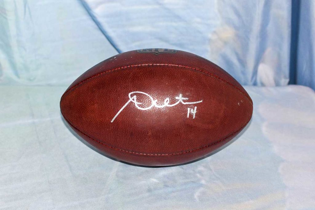 Cincinnati Bengals #14 Andy Dalton signed football