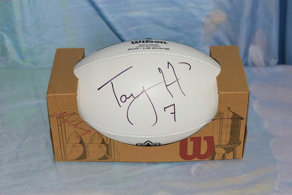 New Orleans Saints #7 Tayson Hill signed football