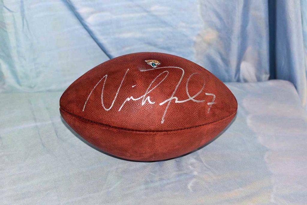 Jacksonville Jaguars #7 Nick Foles signed football