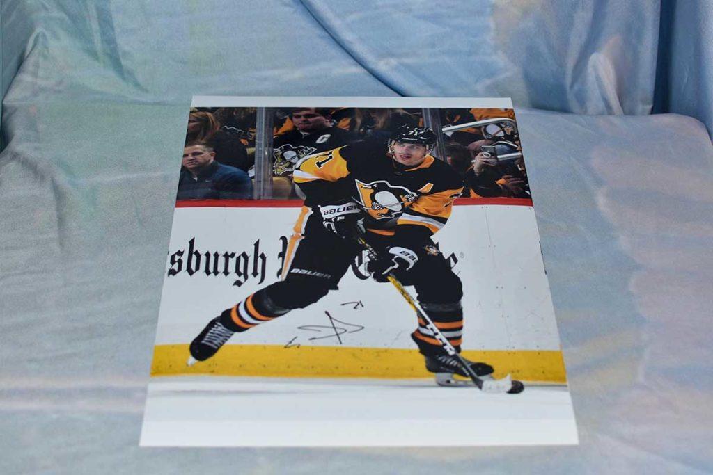 Pittsburgh Penguins #71 Evgeni Malkin signed photo print