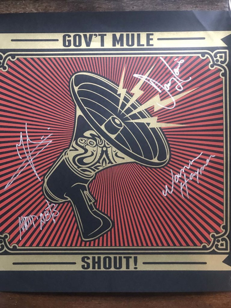 Govt Mule Shout Band Signed Poster