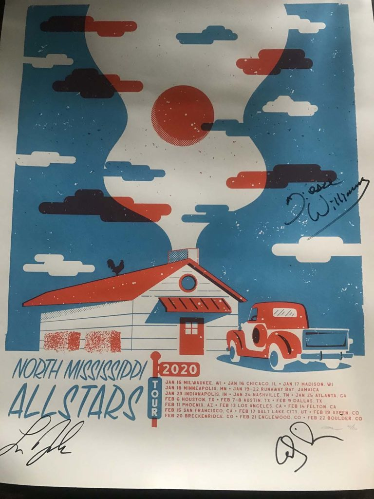 North Mississippi Allstars Signed Poster