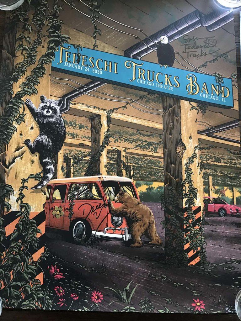 Tedeschi Trucks Band Poster Signed by Susan & Derek