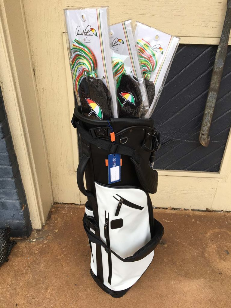 Stitch Golf bag with three Arnold Palmer fabric headcovers (custom embroidery included)