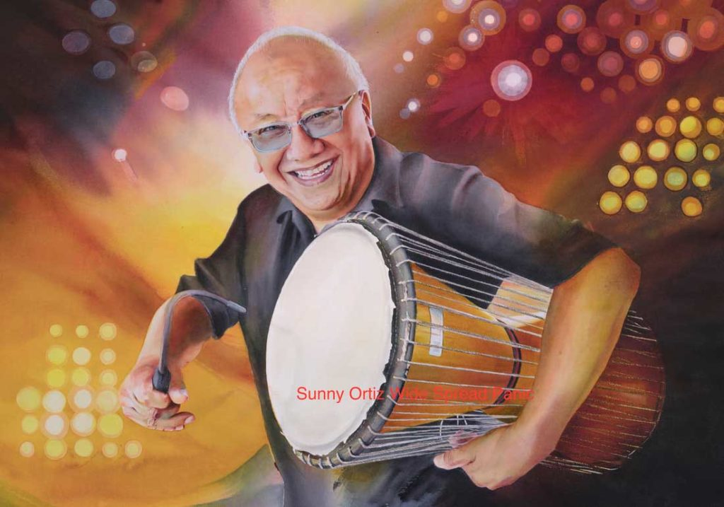 "Domingo ""Sunny"" Ortiz painting painted by Jackie Dorsey"