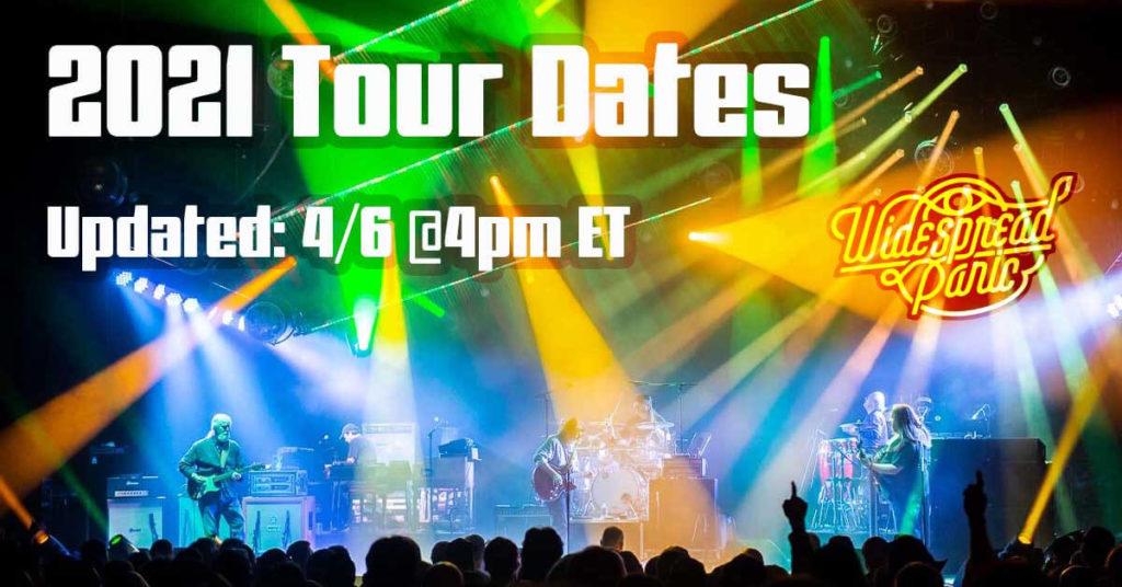 2021 Tour Dates Update