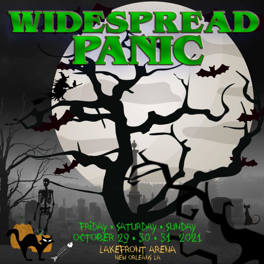 Widespread Panic Halloween in New Orleans October 2021