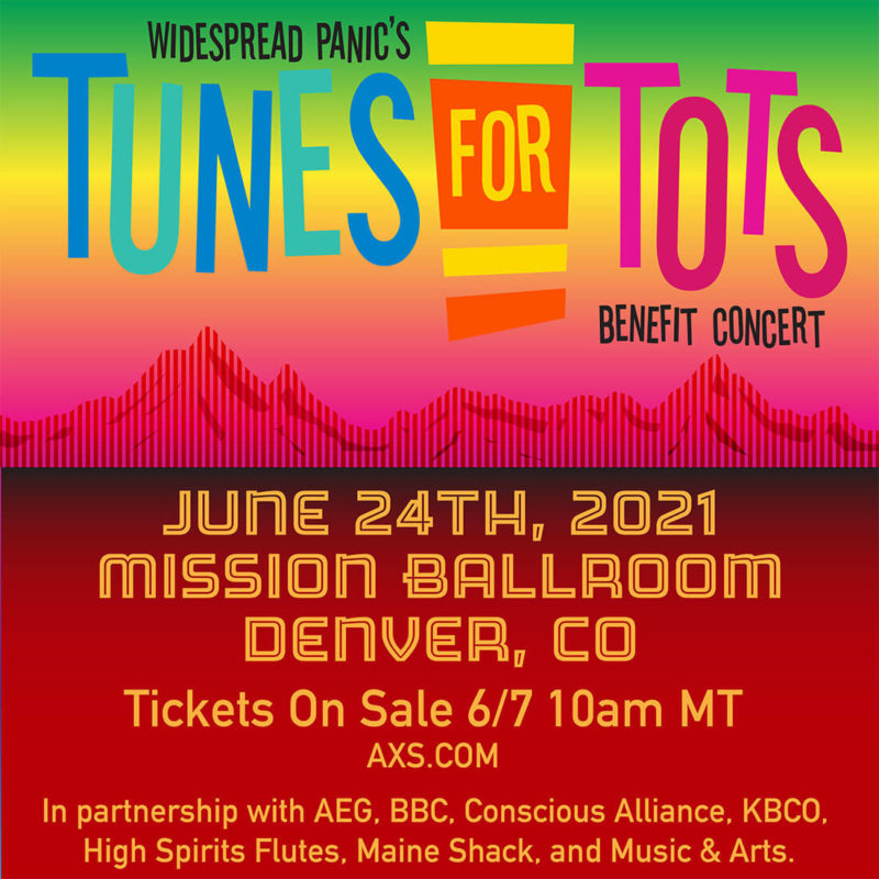 Widespread Panic Tunes for Tots 2021 Mission Ballroom Denver CO June 24