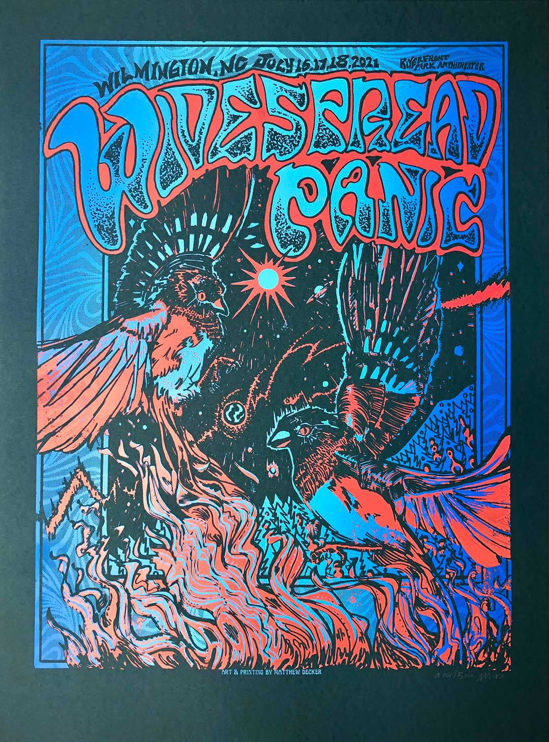 Widespread Panic Wilmington NC Event Poster by Matthew Decker