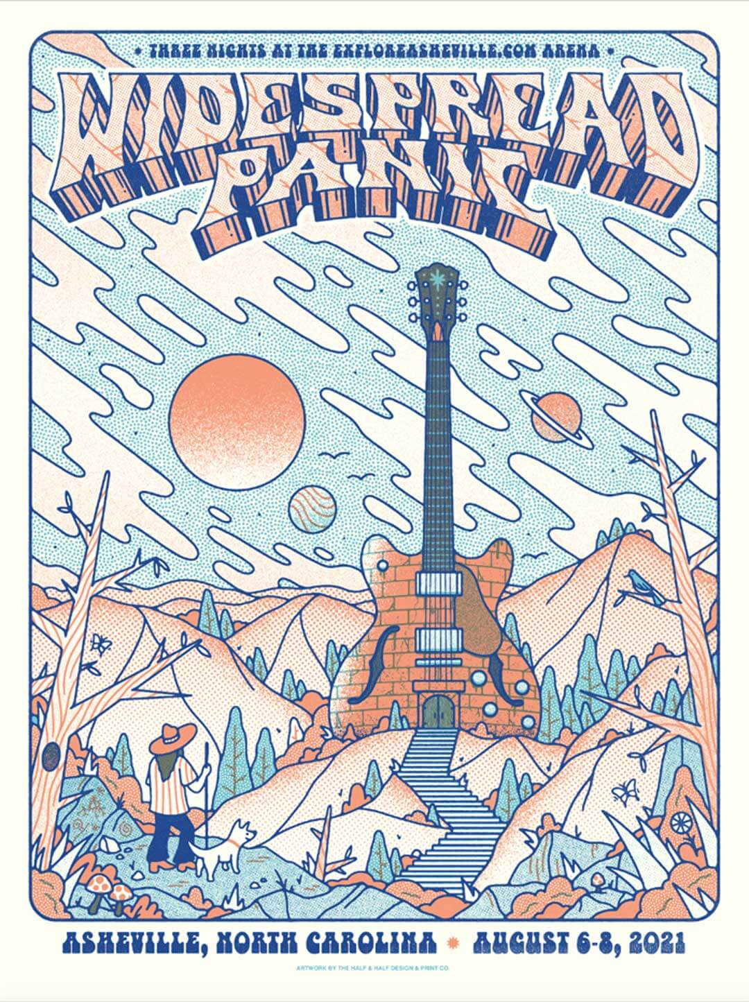 Widespread Panic Poster Asheville 2021 by The Half and Half
