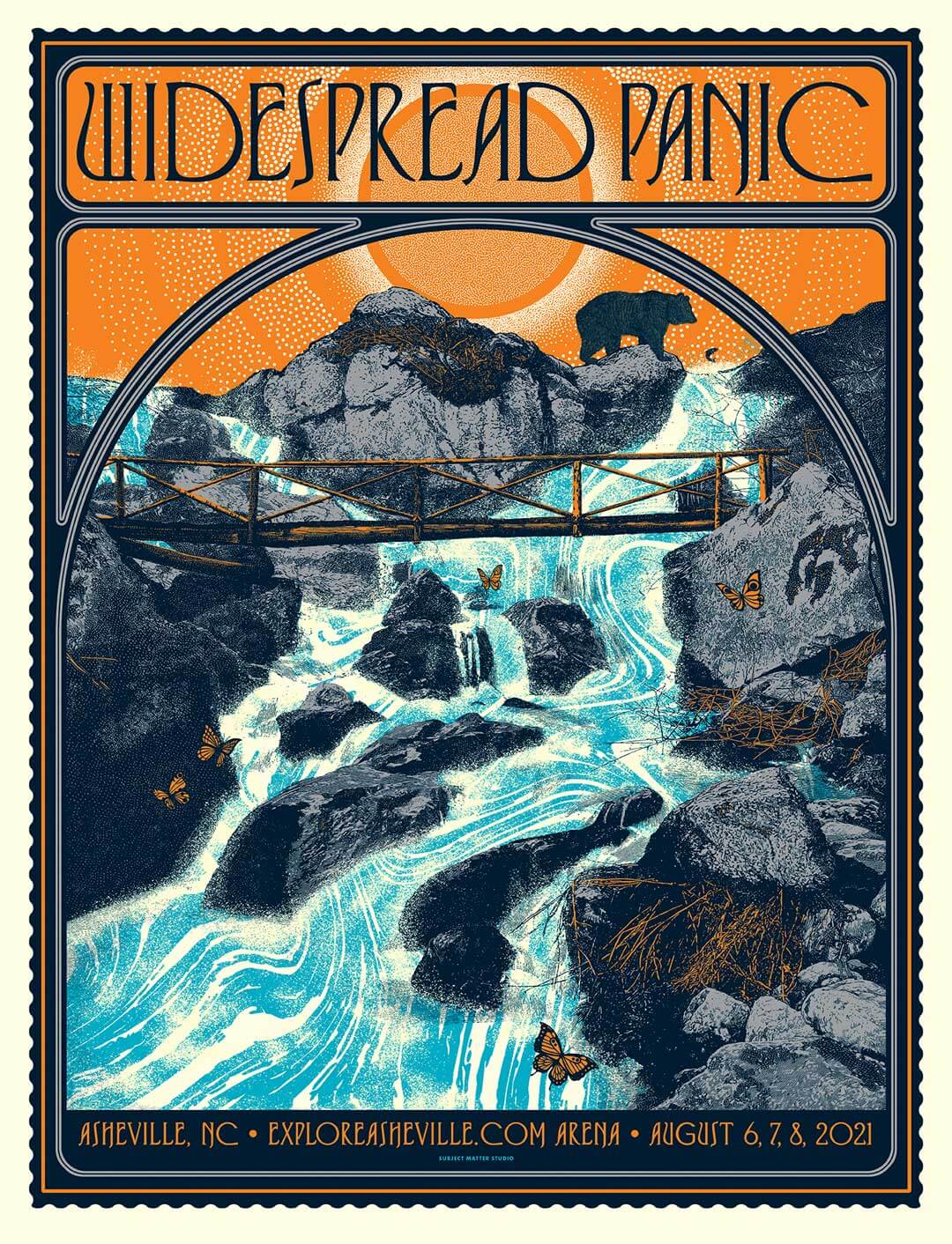 Widespread Panic Poster Asheville 2021 by Subject Matter Studio