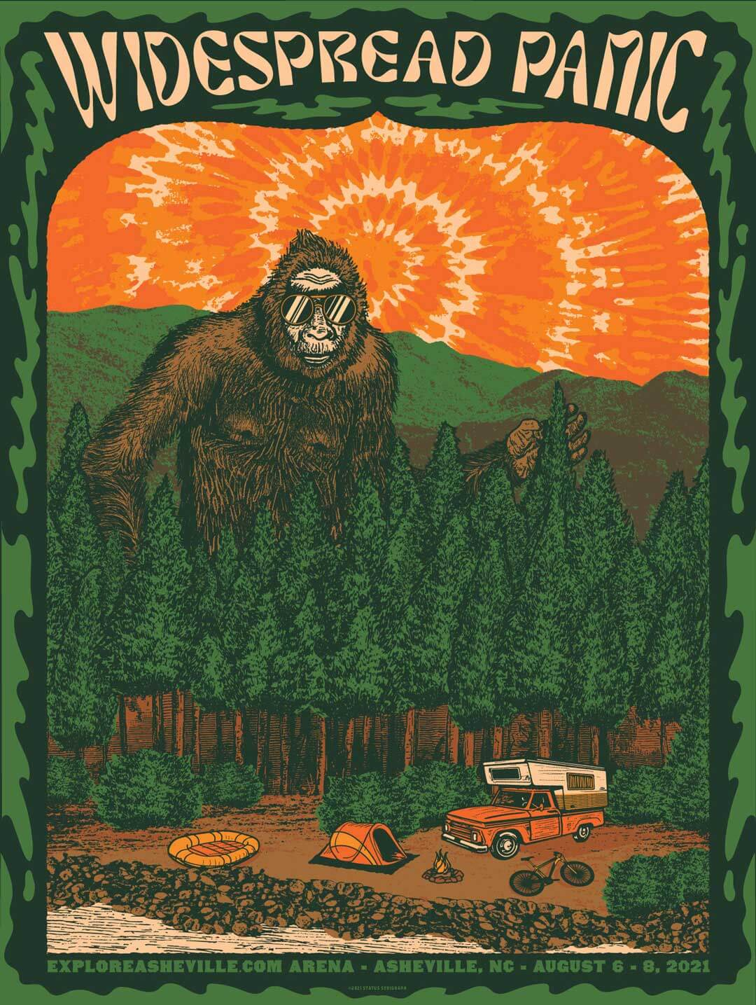Widespread Panic Poster Asheville 2021 by Justin Helton
