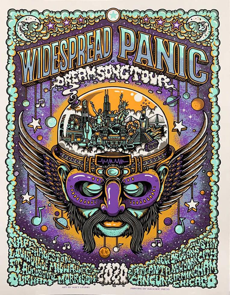 Widespread Panic Dream Tour 2020 Poster by Matt Leunig